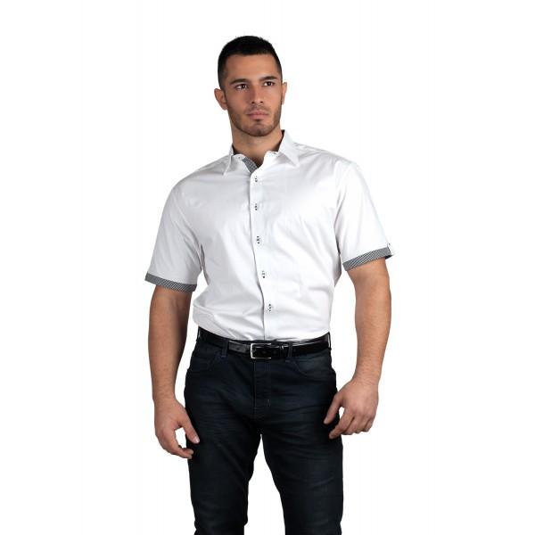 Aron Мъжка риза къс ръкав